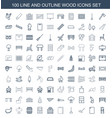 wood icons vector image vector image