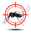 mosquitoes with mosquito target flat design vector image