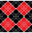 Red and Black Rectangle Seamless Pattern vector image