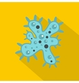 Bacteria icon flat style vector image vector image
