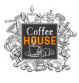 banner template coffee house vector image vector image