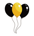 black and yellow balloons vector image vector image