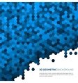 Blue geometric background with polygons vector image