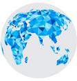 blue mosaic geometric abstract globe vector image vector image