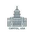 capitol usa line icon capitol usa vector image vector image
