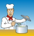chef testing soup vector image vector image