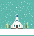 church flat style in winter season vector image vector image