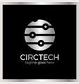 circle tech logo vector image vector image