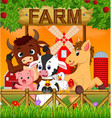 collection animal in the farm vector image vector image