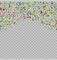 colorful dots isolated on transparent background vector image