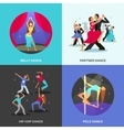 Dance Flat Concept vector image