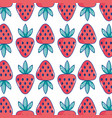 delicious strawberry organic fruit food background vector image vector image