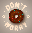 donut worry chocolate vector image