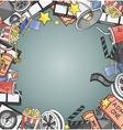 Doodle cinema vector image vector image