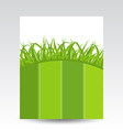 Ecology card with green grass vector image vector image