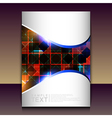 Flyer or brochure cover design - abstract vector image vector image