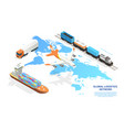 freight industry logistics and transportation vector image