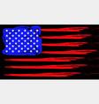 grunge american flag patriotic background flag vector image