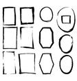 grunge brush frames vector image vector image