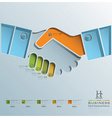 Hand Shake Business Infographic vector image