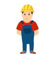 Happy cartoon repairman or construction worker vector image vector image