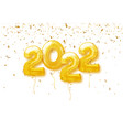 happy new year 2022 background 2022 number vector image