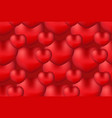 happy valentine s day realistic 3d heart seamless vector image vector image