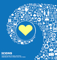 Heart Love sign symbol Nice set of beautiful icons vector image vector image