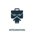 integration icon symbol creative sign from agile vector image vector image