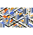 isometric city top view districts and roads vector image vector image