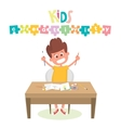 Kids Art-working process Kids creativity vector image vector image