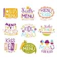 Kids Organic Food Hand Drawn Banner Set vector image vector image