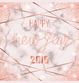 luxury pink gold glitter happy new year 2019 vector image vector image