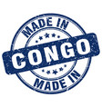 made in congo blue grunge round stamp vector image vector image