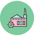 mill icon vector image vector image