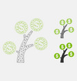 money tree mesh 2d model and triangle vector image vector image