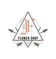 monogram logo design classic - flower vector image