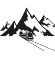 mountain train vector image