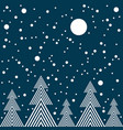 night in forest seamless pattern vector image vector image