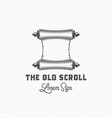 old scroll abstract sign symbol or logo vector image vector image