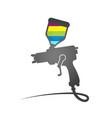 Paint spray gun symbol vector image