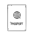 passport in doodle style hand drawn isolated on vector image