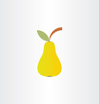 pear icon design vector image