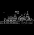 perm silhouette skyline russia - perm city vector image vector image