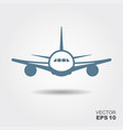 plane icon in flat design style vector image vector image