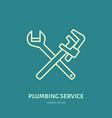 Plumbing flat line icon repair service