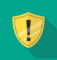 protective shield alert vector image vector image