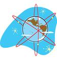 Radio Earth vector image vector image