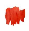 Red spot of brush strokes vector image vector image