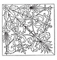 renaissance square panel designed by wood carver vector image vector image